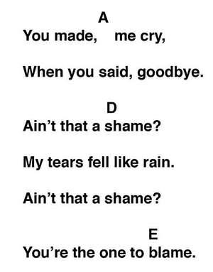 Ain't That A Shame Song