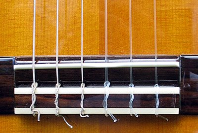 Classical Guitar Strings and Saddle