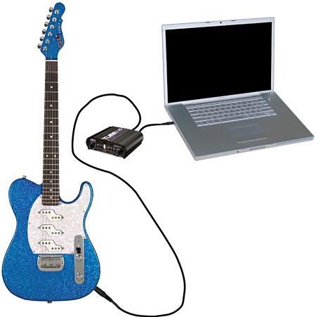Guitar To Audio-In, Powered By The ART Tube MP Project Pro Audio Pre-Amp